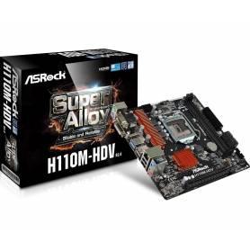 ASRock H110M-HDV R3.0 , LGA 1551, VGA, DVI, HDMI