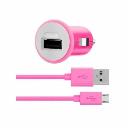 Adaptador de 12V a USB Belkin MIXIT mas cable micro usb Rosa
