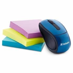 Mouse Optico Inalambrico Verbatim Go Mini 97471 Azul