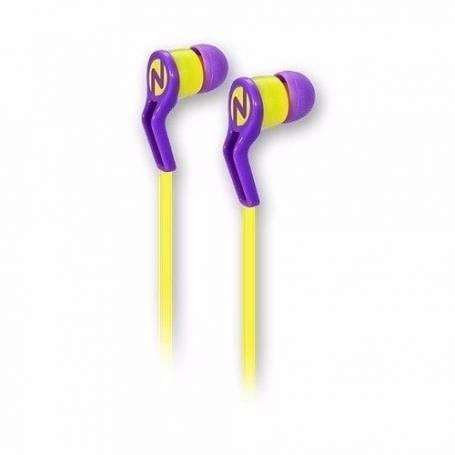 Auricular Noga Cable Plano In Ear Manos Libres X-6060 Violeta