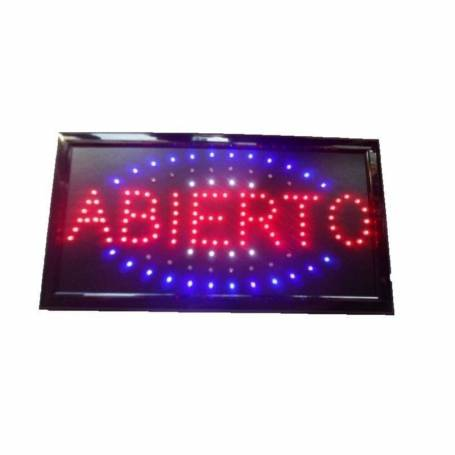 Cartel LED Abierto 48x25