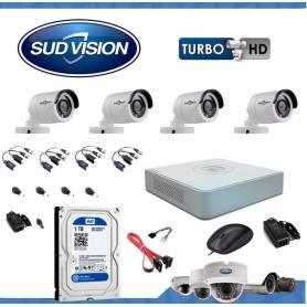 Kit de seguridad SUDVISION 4 x 4 canales 1080N-HD