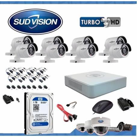 Kit de seguridad SUDVISION 8 x 8 canales 1080N-HD