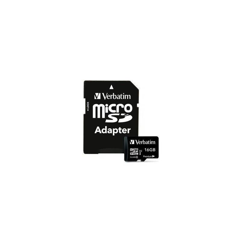 Tarjeta Micro SD HC 16GB Clase 10 Verbatim 44082