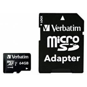 Tarjeta Micro SD XC 64GB Clase 10 Verbatim