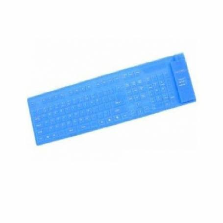 Teclado Flexible NETMAK Azul