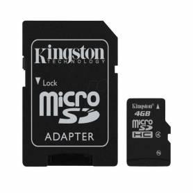 Tarjeta Micro SD 4GB  Kingston Clase 4