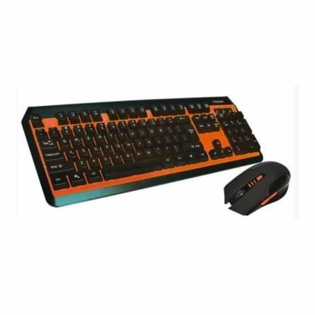 Kit Teclado y mouse gamer inalambrico Noga Stormer NKB-40 Azul