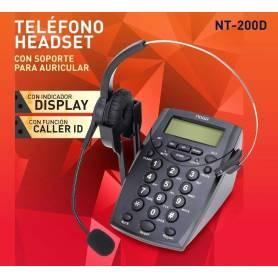 Telefono Headset Noga NT-200D con Display y CALLER ID