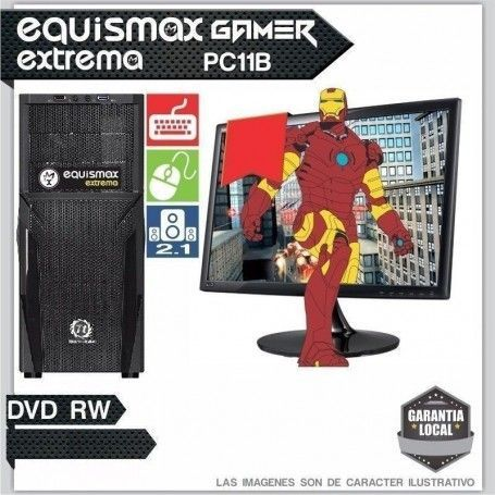 Pc Equismax Extrema AMD RYZEN 5 1600 / 8GB / HD 1TB
