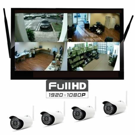 "Kit de Vigilancia monitor 22"" NVR 4 Camaras WIFI"
