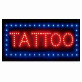 "Cartel LED ""TATOO""  48x25"