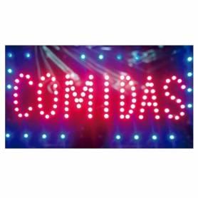 "Cartel LED ""COMIDAS""  48x25"