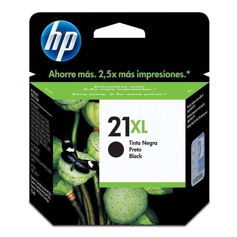 Cartucho   HP 21 XL  original de tinta negra