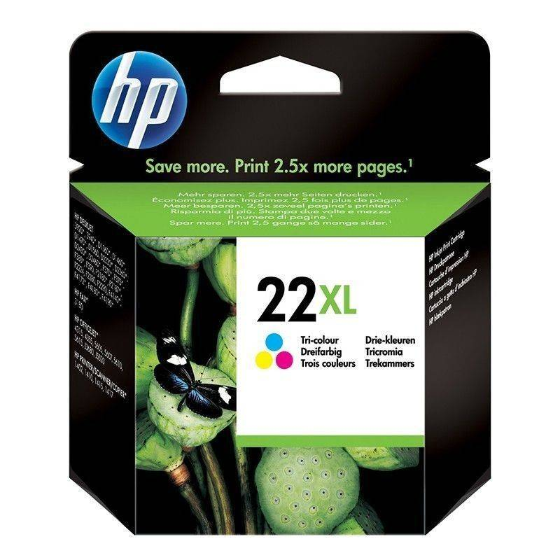 Cartucho   HP 22 XL original de tinta tricolor