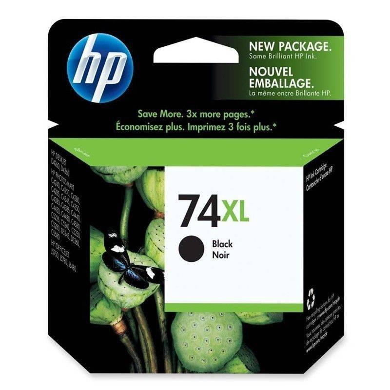 Cartucho   HP 74 XL original de tinta negra
