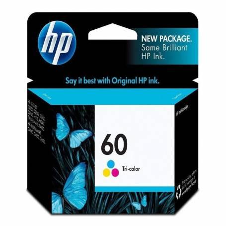 Cartucho HP 60 original de tinta tricolor