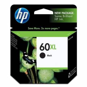 Cartucho HP 60 XL original de tinta negra