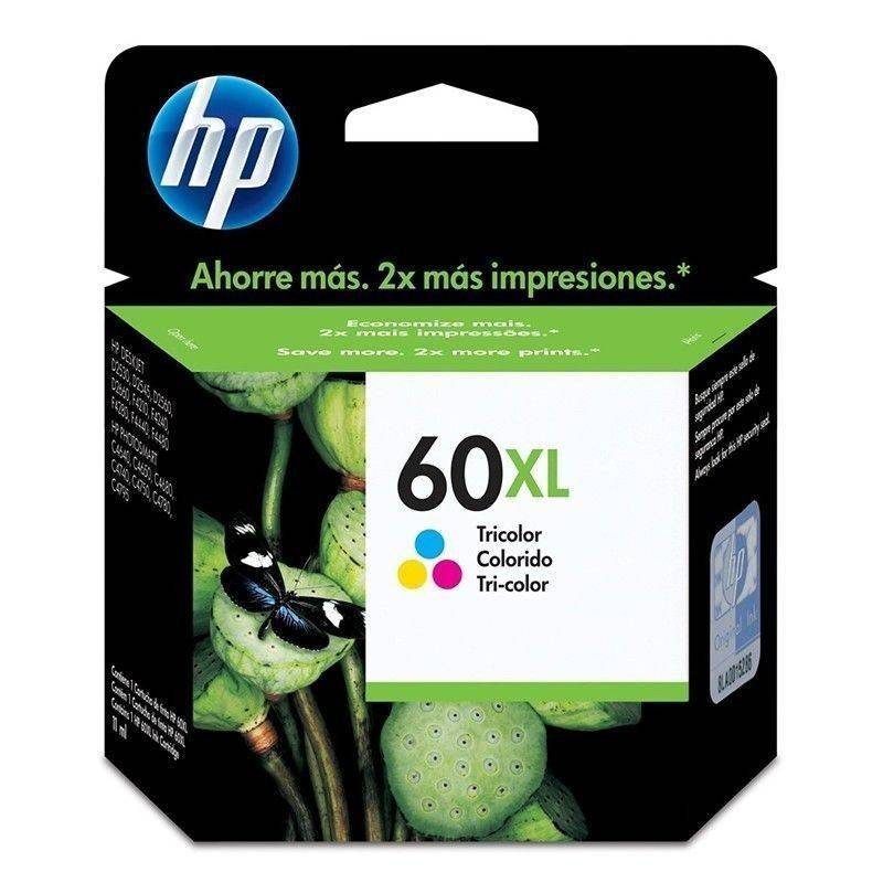 Cartucho  HP 60 XL original de tinta tricolor