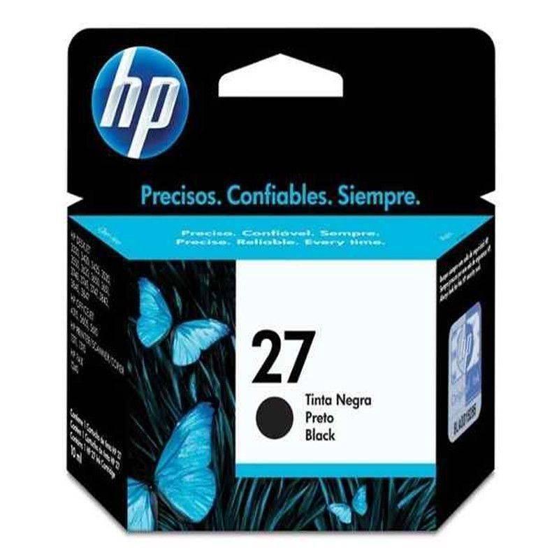 Cartucho   HP 27 original de tinta negra