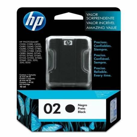 Cartucho HP 02 original de tinta negra