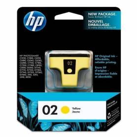 Cartucho HP 02 original de tinta amarillo