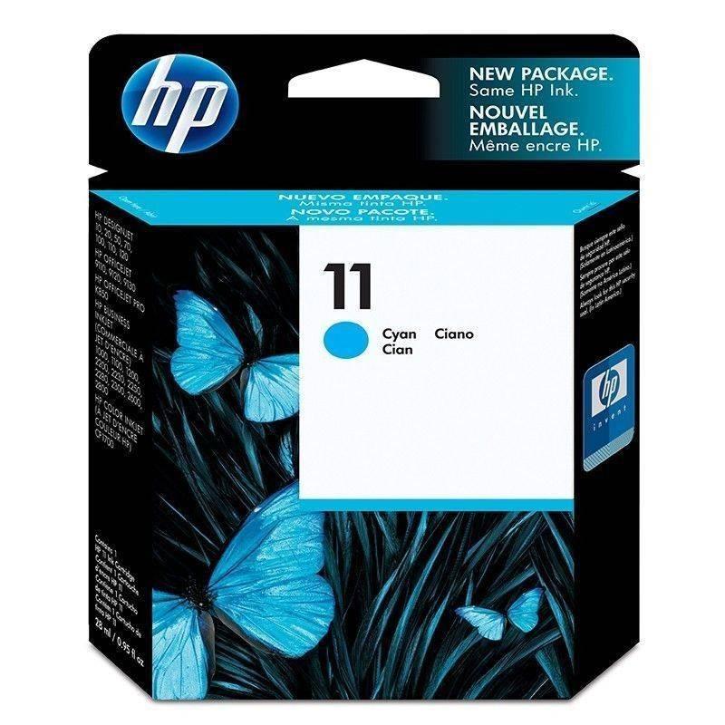 Cartucho HP 11 original de tinta cian