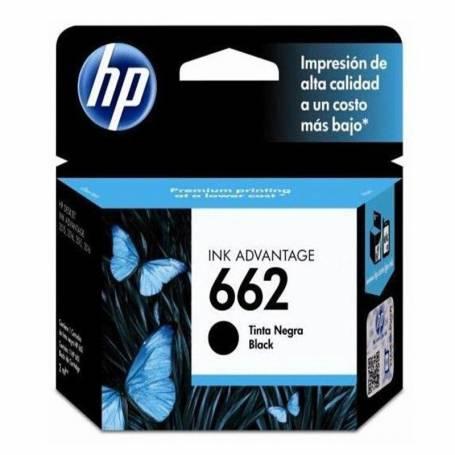 Cartucho HP 662 original de tinta negra