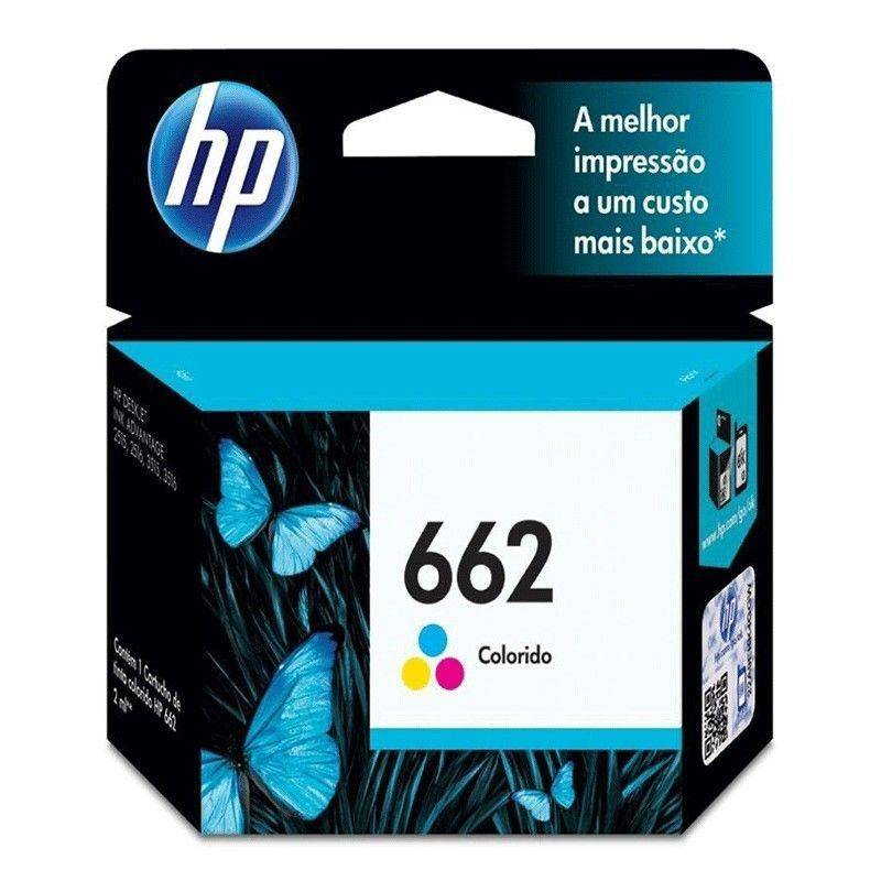 Cartucho HP 662 original de tinta tricolor