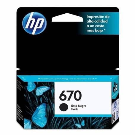 Cartucho HP 670 original de tinta negra