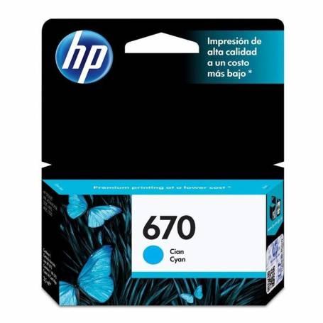 Cartucho  HP 670  original de tinta cian