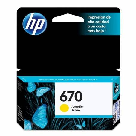 Cartucho  HP 670  original de tinta amarillo