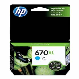 Cartucho  HP 670 xl original de tinta cian
