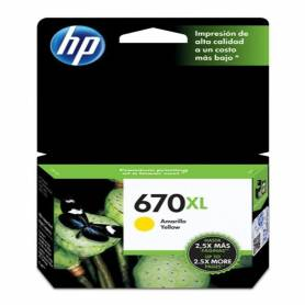 Cartucho  HP 670 xl original de tinta amarillo