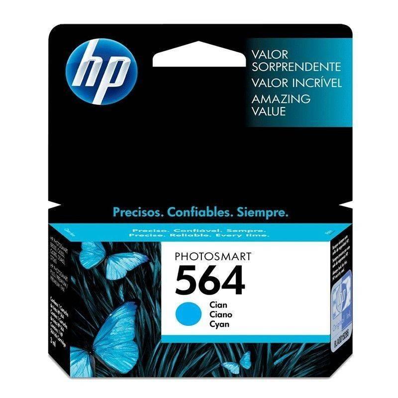 Cartucho HP 564 original de tinta cian