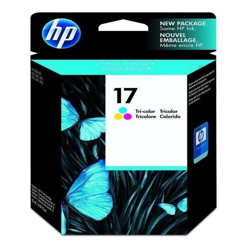 Cartucho   HP 17 original de tinta tricolor