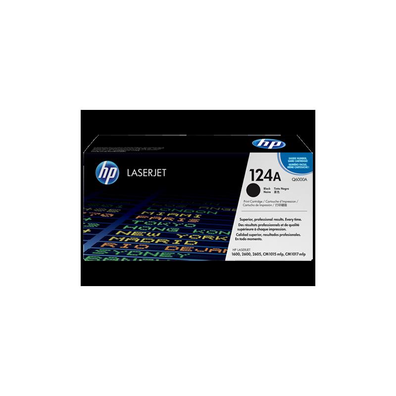 Toner HP 124A negro Q6000A original