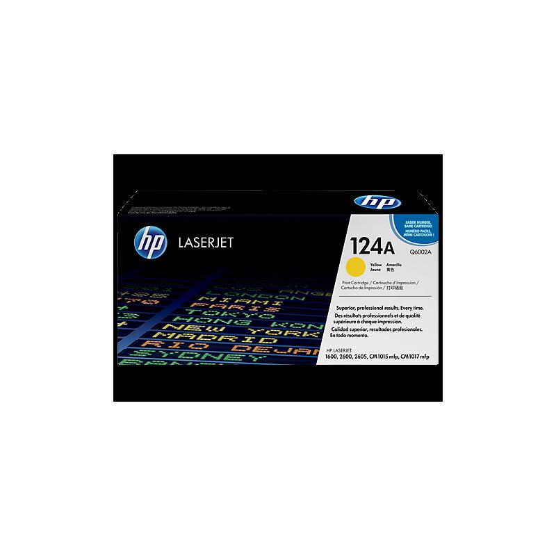 Toner HP 124A amarillo Q6002A original