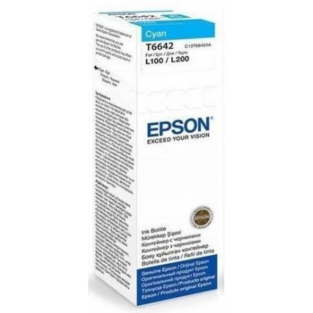 Tinta Epson T664220 Original cian L200 L210 L350 L355 L555