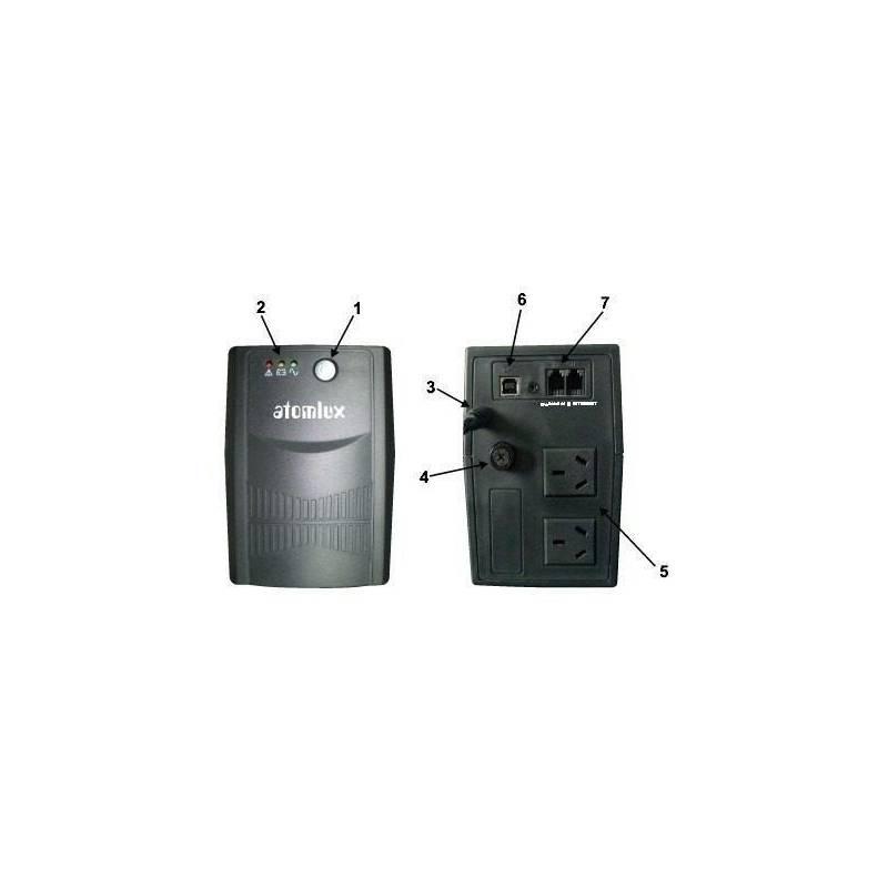 UPS + Estabilizador Atomlux 1000 6 salidas