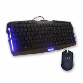 NKB-JK003 Teclado + Mouse Gamer Noga Stormer con luz azul (N15pr)