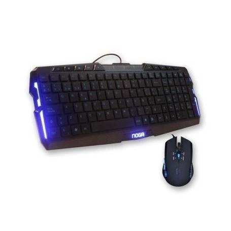 NKB-JK003 Teclado + Mouse Gamer Noga Stormer con luz azul