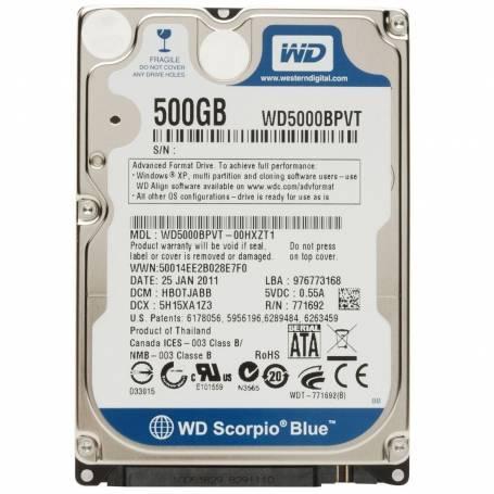 Western Digital 500GB sata 3 Notebook Slim
