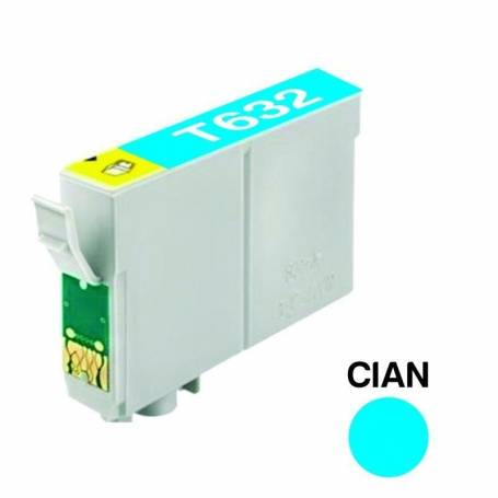 Cartucho para Epson T632 cian alternativo
