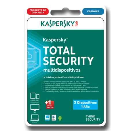 Kaspersky Total Security 3 dispositivos KASTOSE3