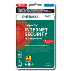 Kaspersky Internet Security 1 dispositivo 1 año KAS15IS1
