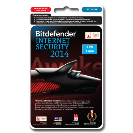Bitdefender Internet Security 1 PC 1 año BIT14ISP
