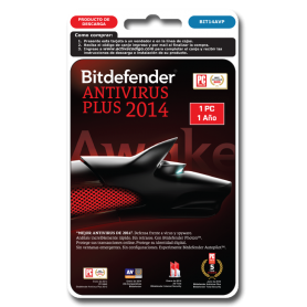 Bitdefender antivirus PLUS 1 PC 1 año BIT14AVP