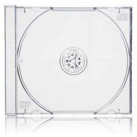 Caja para CD doble acrilica transparente capacidad para 2 CD's