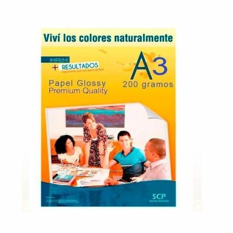 Papel Fotográfico Glossy SCP 200grs.